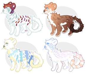 assorted tigers - open! 1/4 REDUCED by lyresandharps