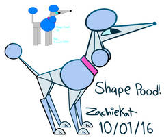 Shape Poodle! (Re-draw) by ZachieKat