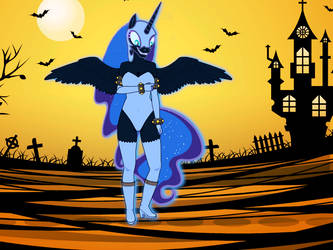 Anthro nightmare moon by imyouknowwho