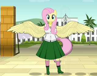 Anthro Fluttershy by imyouknowwho