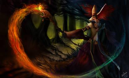 Delphox The Great Wizard by RenePolumorfous
