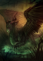 Kiysha : Tha Swamp Dragon by RenePolumorfous
