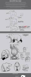 How to not draw a bear. by Dj-Rodney