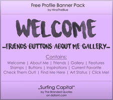 Free Banner Pack :: Surfing Capital (black'n'white by HinaTheBlue