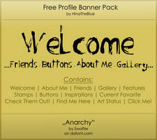 Free Banner Pack :: Anarchy (black'n'white) by HinaTheBlue