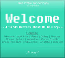 Free Banner Pack :: Fixedsys (black|white) by HinaTheBlue