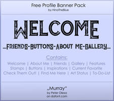Free Banner Pack :: Murray (black|white) by HinaTheBlue