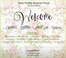 Free Banner Pack :: Sweetline (black|white) by HinaTheBlue