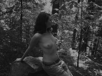 naked in forest by BLACK-SAYURI