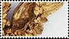 golden wing aesthetic stamp by monsterkitties