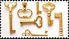 golden keys aesthetic stamp by monsterkitties