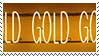 gold glow aesthetic stamp by monsterkitties