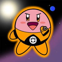 Orange Lantern Kirby by Bortonium