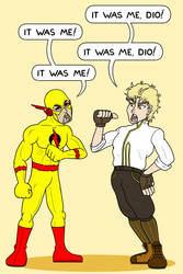Eobard Thawne vs. Dio Brando by Bortonium