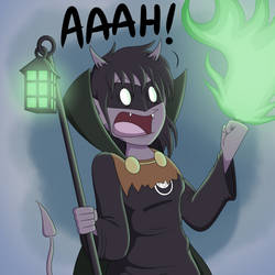 Green (Flame) Lantern by Bortonium