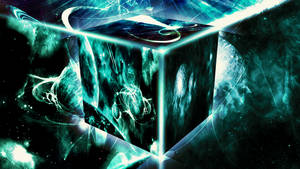 Space Cube (Wallpaper) by Hardii