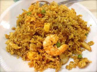 Thai Pineapple Seafood Fried Rice by nosugarjustanger