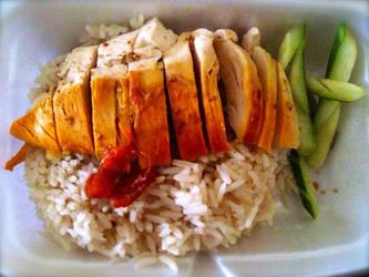 Chicken Rice by nosugarjustanger