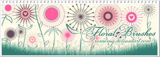 Floral Set Brushes by Romenig