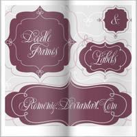 Doodle Frames Labels by Romenig