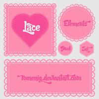 Lace Elements Photoshop Brushes by Romenig