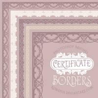 Certificate Borders Brush Set by Romenig