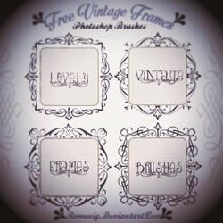 Lovely Vintage Frames Free Photoshop Brushes by Romenig
