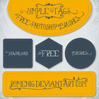 Simple Tags Free Brushes by Romenig
