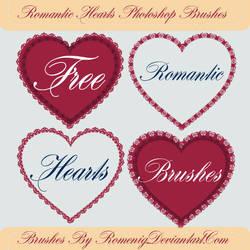 Romantic Hearts Free Brushes by Romenig