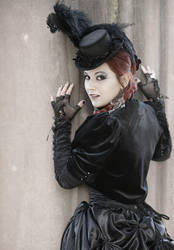 Dark Victorian Goth Lady III by MADmoiselleMeli