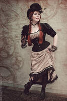 Steampunk Lady in Stripes II by MADmoiselleMeli