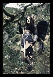 Black Fallen Angel by MADmoiselleMeli