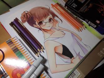 anime girl by Elevenxixer