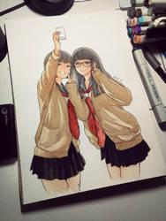 selfie girls by Elevenxixer
