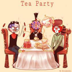 Countryhumans: Tea Party by Ariyamidai