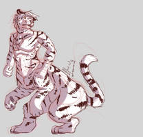 white taur tiger by OrionSpaceNoise