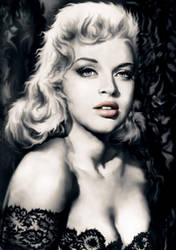 Diana Dors by Drochfuil
