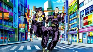 JoJo's Bizarre Adenture Josuke and Okuyasu by Franky4FingersX2
