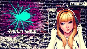 Spider-Gwen Wallpaper by Franky4FingersX2