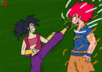 Goku vs Kefla by Trezion