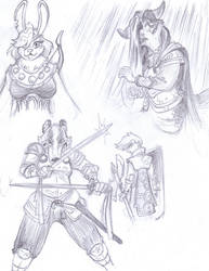 Armors And Warrior Designs by LeavingCrow