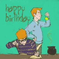Happy Birthday Fred n' George by HgwrtsExchngeStdnt