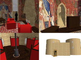 MMD Gryffindor common room stage DOWNLOAD by OtakuxxGirl12