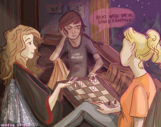 Game Night by illustrationrookie
