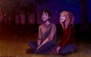 Stargazing/ Legendary Lovers by illustrationrookie