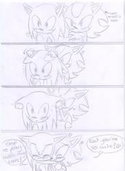 Sonadow comic : Shadow plays by kiiyup0p