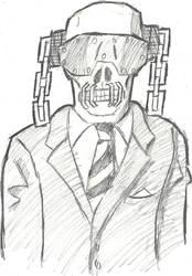 Vic Rattlehead Sketch by MetalHeadFan2500