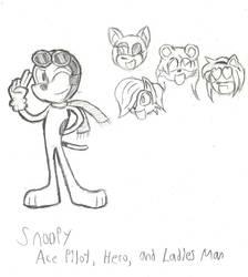 Mobian Snoopy, Ace Pilot by MetalHeadFan2500