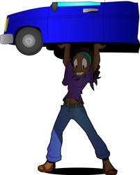 Kendra lifting car by MetalHeadFan2500