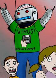 Virus on Floppy by awe-inspired